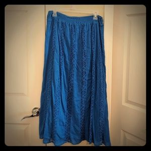 St John's Bay Blue Skirt Midi